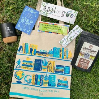 And we don't want our online folx to miss out so we're doing ANOTHER #GIVEAWAY 🥳   Every online book order $50+ from now until 11:59pm next Saturday (May 1st) will be entered for a chance to win this fun set of #IndieBookstoreDay and Epilogue goodies 🤗  Per Instagram rules, this promotion is in no way sponsored, administered, or associated with Instagram, Inc. By entering, entrants confirm that they are 13+ years of age, release Instagram of responsibility, and agree to Instagram's terms of use. Promotion open to US residents only.