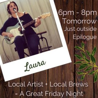 TGI(A)F! Start your weekend off with a special live performance by singer-songwriter Laura tomorrow from 6-8pm! Grab some friends and make your way over for some drinks and sweets- you know Fridays are better with churros ✨  P.S. we still have Dingo Dog beer and cider on tap in case you didn't make our last Tap Takeover 🍻
