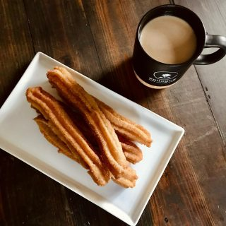 Churros + coffee = perfect morning 😌 How are y'all kicking off your Monday?