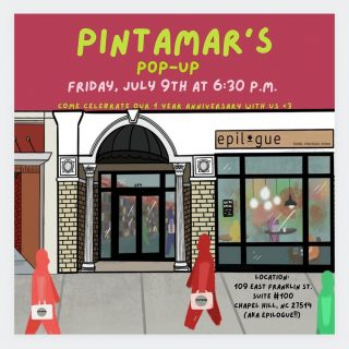 Join us in celebrating Latinx-owned @pintamar_ 's first anniversary by stopping by their pop-up shop at Epilogue 🥳 They'll have stickers, prints, and even a few ~limited~ items available!   (Check out their feed to see some of their work 🤗)