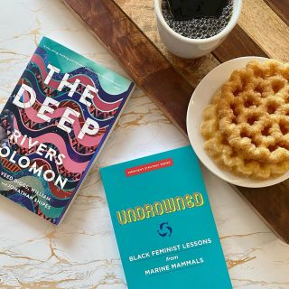 We're thinking about remembrance today, as well as lessons for moving forward, so what better books than @rivers.solomon 's afrofuturist novel and @alexispauline 's essays drawing from marine mammals 📚