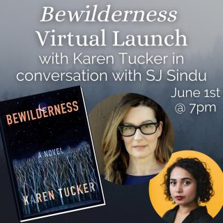"✨EXCITING NEWS✨ We'll be hosting the launch of @karenetucker 's new book Bewilderness! 🤩 Join us in June 1st for Karen and @sjsindu 's chat to welcome this book to stores 🤗 (And you can preorder a copy on our website!)  .  Set in rural, poverty-stricken North Carolina, this ""beautiful, gritty, and piercing"" novel follows two young women—best friends—as they ""journey through the highs and lows of friendship, love, and addiction,"" perfect for readers of Julie Buntin's Marlena (Erika Carter, author of Lucky You)."