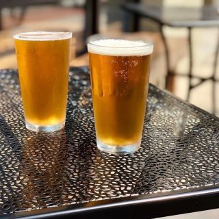 It's a beautiful day for a @ponysaurusbrewing beer 🍻 Grab a friend and enjoy our outdoor (or indoor) seating!