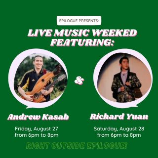 What's better than a night of incredible music and drinks? TWO! Listen up music lovers, beer connoisseurs, book fans, coffee aficionados, and everyone in between- we have a fabulous line up of local musicians for you to come listen to this weekend! 🎶🎶🎶🎶  Stop by in Friday and meet Andrew Kasab- a Modern Folk singer-songwriter, American fingerstyle guitarist, harp guitarist, and baritone guitarist. Andrew is known for combining traditional and contemporary techniques, as well as his energetic performances. 🎸  Come back on Saturday to join Richard Yuan, the young singer-songwriter looking to share his music with his beloved Chapel Hill community before heading off to college. 🎓 Cheer Richard and his acoustic guitar on as he explored indie, pop, and folk music, amongst other genres!