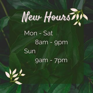 Hey y'all - we have new hours 🤗 Now you can hang out with us until 9pm just about every day! What're you waiting for? Come get your coffee on ☕️ and find a new favorite book while you're at it 📖