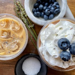 Fun fact: all our syrups are made using whole ingredients - including our Blueberry Lavender and Lavender Sea Salt syrups 🤗 (Both are also FANTASTIC in chocolate milkshakes, which are made with @mapleviewfarmicecream and @viderichocolate 😋 #LifeHack)