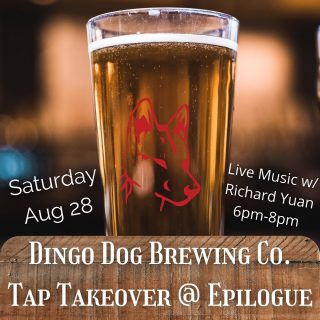 Hey y'all! We're doing our first ever #TapTakeover featuring #LocalFavorite @dingodogbrewing 🍺🐕 We'll have their Bee de Garde Farmhouse Ale, Blood Orange IPA, and Mango Apple Cider on tap until they run out, so get there early! 🤗