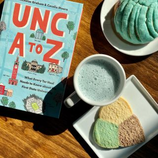 It's a beautiful day to #BeatDuke and we're getting into the spirits with our favorite Carolina blue pastries and #BlueMatcha 🤗 #GoTarheels #GDTBATH