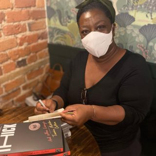 Starting off the week with the fabulous @tressiemcphd stopping in to sign more copies of THICK and Lower Ed 😍   If you've been waiting to snag a signed copy of either of Dr. McMillan Cottom's incredible books, now is the perfect time! ☕️📚