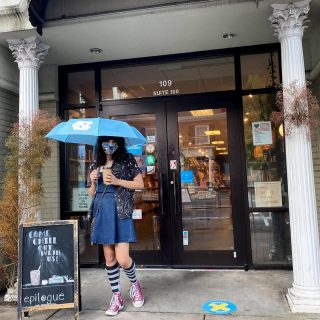 🌧 Rainy days were made for sipping a foamy latte at a cute bookstore or staying home nestled under the covers with a really great book. Enjoy today's stormy weather your way with our #curbsidepickup🚗🚙 and #delivery options, in case you couldn't make it out of your pjs (it happens!) 📚☕️  Just give us a call or place an order on our website and we'll take care of the rest!