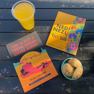 The only thing better than a stellar collection of poetry is if the cover is just as beautiful as the words inside 📖💐  Cookies and Agua Fresca + new #poetry= the start of a great weekend ✨